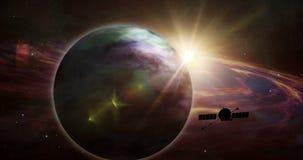 Exploratie van sondeerballon de verre exoplanet royalty-vrije illustratie