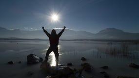 Exploratie van zonsondergang succesvolle en ongebruikelijke plaatsen royalty-vrije stock fotografie