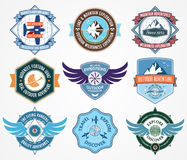 Exploration badges Stock Image