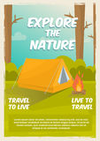 Exploration d'affiche de nature illustration libre de droits