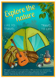 Exploration d'affiche de nature illustration de vecteur