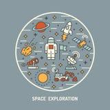 Exploration d'espace illustration libre de droits
