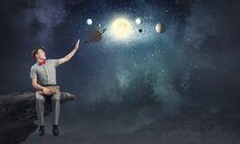 Exploration d'espace Image libre de droits