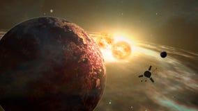 Exploration d'exoplanet de sonde d'espace illustration de vecteur