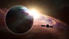 Exploration d'exoplanet de sonde d'espace illustration libre de droits