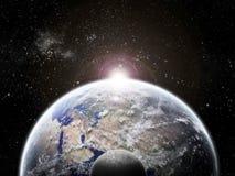 Exploration d'univers - éclipse de lune sur terre illustration stock