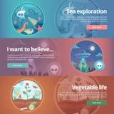 Exploration de mer La Science de la vie La science naturelle ufology illustration libre de droits