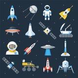 Exploration de navette de vaisseau spatial illustration de vecteur
