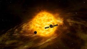 Exploration de vaisseau spatial de Sun illustration de vecteur