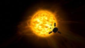 Exploration de vaisseau spatial de système solaire illustration libre de droits