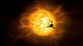 Exploration de vaisseau spatial de système solaire illustration de vecteur