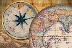 Exploration and discovery. Set of objects to plan an exploration Royalty Free Stock Image