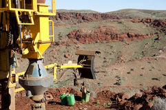 Exploration drilling - Australia Stock Image