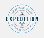 Exploration extérieure d'aventure illustration libre de droits