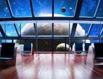 Exploration. Modern interior view of a celestial planet Stock Photos