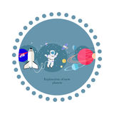 Exploration New Planets Icon Flat Isolated Stock Photos