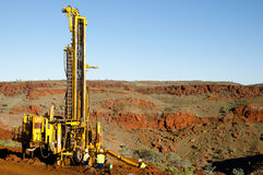 Exploration RC Drilling. Outback Australia Royalty Free Stock Image
