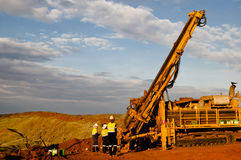 Exploration RC Drilling. Outback Australia royalty free stock photos
