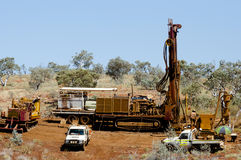 Exploration RC Drilling - Pilbara - Australia. Exploration RC Drilling in the Pilbara - Australia stock photos
