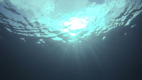 Exploration Underwater in San Andres Colombia. Underwater Video of the Sky from a Deep angle in the Ocan stock footage