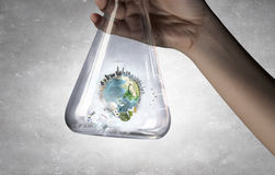 Exploration of world and planet Stock Image
