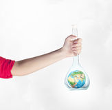 Exploration of world and planet . Mixed media Stock Photography