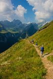 Exploratory tour through the beautiful Appenzell mountain region, Switzerland, stock images