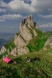 Exploratory tour through the beautiful Appenzell mountain region, Switzerland, royalty free stock photos