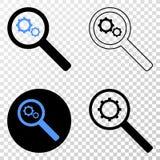 Explore adapta el icono del vector EPS con la versión del contorno stock de ilustración