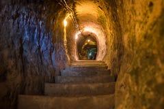 Explore Derinkuyu underground city in Cappadocia, Turkey royalty free stock image