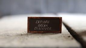 Explore Dream Discover idea stock video footage