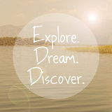 Explore Dream Discover Royalty Free Stock Photos