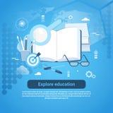 Explore Education Online Concept Web Banner With Copy Space Stock Photos