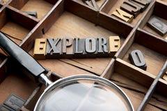 Explore en de madera compuesta tipo imagen de archivo libre de regalías