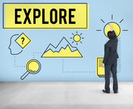 Explore Explorer Research Searching Study Concept stock photography