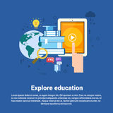 Explore Learning Training Courses Education Web Banner Royalty Free Stock Photo