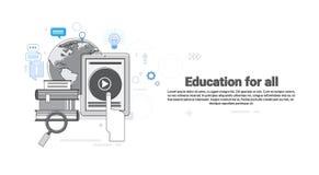 Explore Learning Training Courses Education Web Thin Line. Vector Illustration royalty free illustration