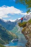 Explore the Norway fjord Stock Photos