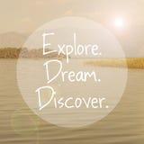Explore o sonho descobrem Fotos de Stock Royalty Free