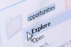 Explore oportunidades Fotografia de Stock