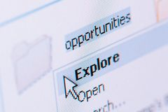 Explore opportunities stock photography
