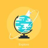 Explore. Vector illustration of explore flat design concept Royalty Free Stock Photos