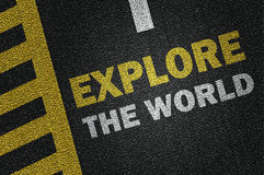 Explore the world Royalty Free Stock Images