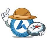 Explorer Ardor coin mascot cartoon. Vector illustration Royalty Free Stock Images