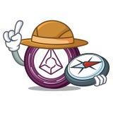 Explorer Augur coin mascot cartoon. Vector illustration Stock Image
