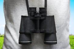 Explorer Binoculars. An Explorer With Binoculars Outdoor Royalty Free Stock Photography