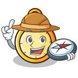 Explorer chronometer character cartoon style Royalty Free Stock Photos