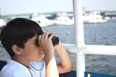 Explorer en mer Photographie stock