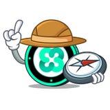 Explorer Ethos coin mascot cartoon. Vector illustration Royalty Free Stock Photography