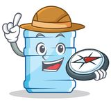 Explorer gallon character cartoon style. Vector illustration stock illustration